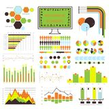 Vector infographic. orange-green 04 Royalty Free Stock Image