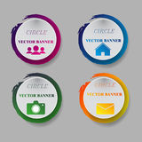 Vector infographic origami banners set Royalty Free Stock Photo