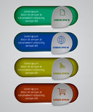 Vector infographic origami banners set Royalty Free Stock Images