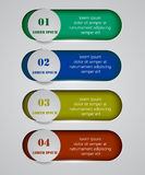 Vector infographic origami banners set Stock Photography