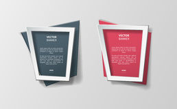 Vector infographic origami banners set. Royalty Free Stock Photo