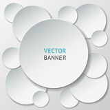 Vector infographic origami banners set. Stock Photo