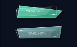 Vector infographic origami banners set. Royalty Free Stock Image
