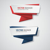 Vector infographic origami banners set. Stock Image