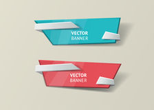 Vector infographic origami banners set. Stock Photos
