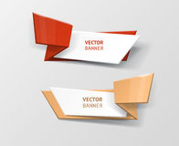 Vector infographic origami banners set. Stock Photography