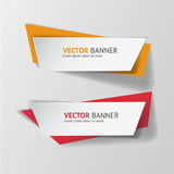 Vector infographic origami banners set. Royalty Free Stock Photos