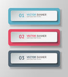 Vector infographic origami banners set Royalty Free Stock Photography
