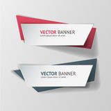 Vector infographic origami banners set Stock Photo
