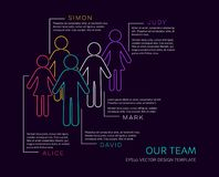 Vector infographic our team design Stock Photo