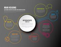Vector infographic rapportmalplaatje Royalty-vrije Stock Fotografie