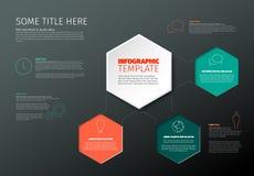 Vector infographic rapportmalplaatje Stock Foto