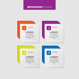 Vector Infographic report template made from lines and icons Royalty Free Stock Photography
