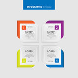 Vector Infographic report template made from lines and icons Stock Image