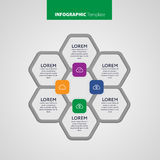 Vector Infographic report template made from lines and icons Stock Images