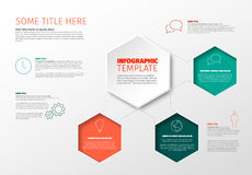 Vector Infographic report template Royalty Free Stock Photo