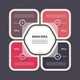 Vector infographic Schablone für Diagramm, Diagramm, Darstellung Lizenzfreies Stockfoto
