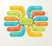 Vector infographic Schablone für Diagramm, Diagramm, Darstellung Lizenzfreies Stockbild