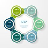 Vector infographic Schablone für Diagramm, Diagramm, Darstellung und Lizenzfreie Stockfotografie