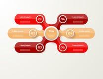Vector infographic Schablone für Diagramm, Diagramm, Darstellung und Lizenzfreies Stockbild