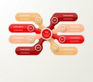 Vector infographic Schablone für Diagramm, Diagramm, Darstellung und Lizenzfreies Stockfoto