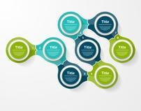 Vector infographic Schablone für Diagramm, Diagramm, Darstellung und Lizenzfreie Stockfotos