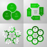 Vector circle infographic set. Stock Photo