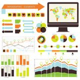 Vector infographic. set orange-green Royalty Free Stock Photos
