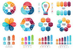 Vector infographic set. Template for cycle diagram Stock Photo