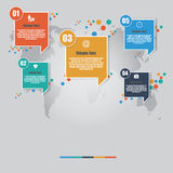 Vector of infographic square element digital marketing concept Royalty Free Stock Photos