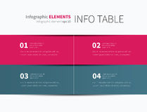 Vector infographic table. Simple and clean tabular graphic for business background Royalty Free Stock Images