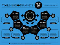 Vector infographic of technology or Business process. Part of th Royalty Free Stock Images