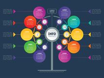 Vector infographic of technology or education process with 10 st Stock Images