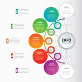 Vector infographic of technology or education process. Business. Concept with 5 options. Annual report. Web Template of a info chart, diagram or presentation Royalty Free Stock Photo