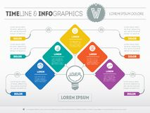 Vector infographic of technology or education process. Business Stock Photos