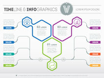 Vector infographic of technology or education process. Business Royalty Free Stock Photography