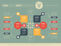 Vector infographic of technology or education process. Business Royalty Free Stock Photo