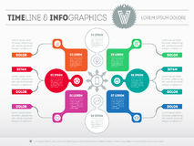 Vector infographic of technology or education process. Business Royalty Free Stock Images