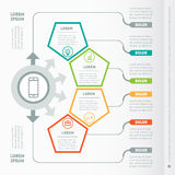 Vector infographic of technology or education process. Business Royalty Free Stock Photos