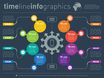 Vector infographic of technology or education process. Business Stock Image