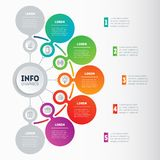 Vector infographic of technology or education process. Business. Presentation concept with 5 options. Web Template of a info chart or diagram  with icons Royalty Free Stock Photography