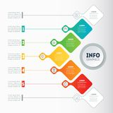Vector infographic of technology or education process. Business. Presentation concept with 5 options. Web Template of a info chart or diagram. Part of the Royalty Free Stock Photography