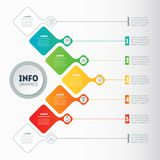 Vector infographic of technology or education process. Business. Concept with 5 options. Web Template of a info chart, diagram or presentation. Part of the Royalty Free Stock Photo