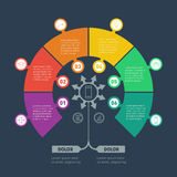 Vector infographic of technology or education process with 6 par Stock Photography