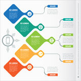 Vector infographic of technology or education process.  Stock Photo