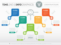 Vector infographic of technology or education process.  Stock Photography