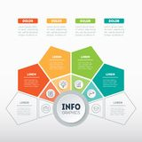 Vector infographic of technology or education process with 4 par. Ts. Business presentation concept with 4 options. Web Template of a info graphics, chart Stock Photos