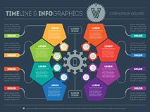 Vector infographic of technology or education process with 8 ste Stock Photos