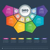 Vector infographic of technology or education process with 6 ste royalty free illustration