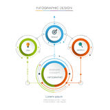 Vector infographic template. Business concept with options. Vector infographic template with 3D paper label, integrated circles. Business concept with options Stock Photography